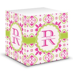 Suzani Floral Sticky Note Cube (Personalized)