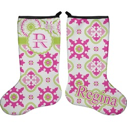 Suzani Floral Holiday Stocking - Double-Sided - Neoprene (Personalized)