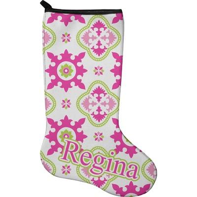 Suzani Floral Holiday Stocking - Neoprene (Personalized)