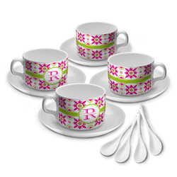 Suzani Floral Tea Cup - Set of 4 (Personalized)