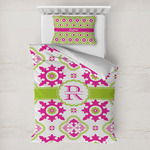 Suzani Floral Toddler Bedding w/ Name and Initial