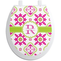 Suzani Floral Toilet Seat Decal (Personalized)