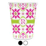 Suzani Floral Waste Basket (Personalized)