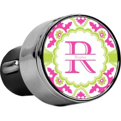 Suzani Floral USB Car Charger (Personalized)