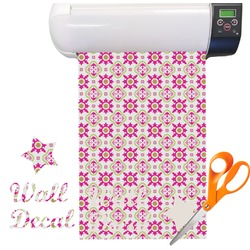 Pink & Green Suzani Floral Vinyl Sheet (Re-position-able)