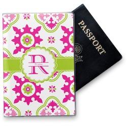 Suzani Floral Vinyl Passport Holder (Personalized)