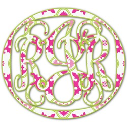 Suzani Floral Monogram Decal - Custom Sizes (Personalized)