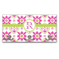 Suzani Floral Wall Mounted Coat Rack (Personalized)