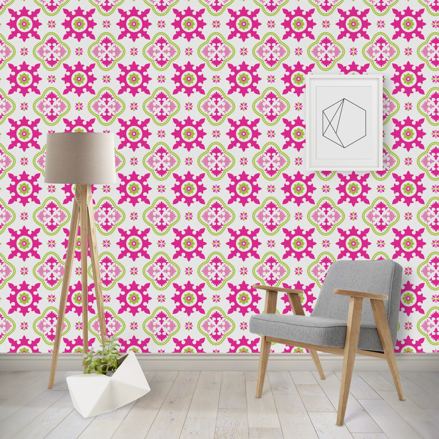 Suzani Floral Wallpaper Surface Covering Peel Stick