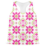 Suzani Floral Womens Racerback Tank Top (Personalized)