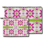 Suzani Floral Zipper Pouch (Personalized)