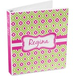 Ogee Ikat 3-Ring Binder (Personalized)