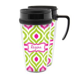 Ogee Ikat Acrylic Travel Mugs (Personalized)