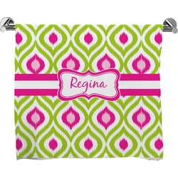 Ogee Ikat Full Print Bath Towel (Personalized)