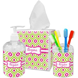 Ogee Ikat Bathroom Accessories Set (Personalized)