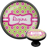 Ogee Ikat Cabinet Knob (Black) (Personalized)