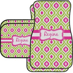 Ogee Ikat Car Floor Mats (Personalized)