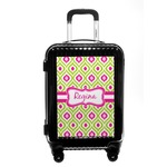 Ogee Ikat Carry On Hard Shell Suitcase (Personalized)