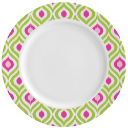 Ogee Ikat Ceramic Dinner Plates (Set of 4) (Personalized)