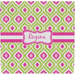 Ogee Ikat Ceramic Tile Hot Pad (Personalized)