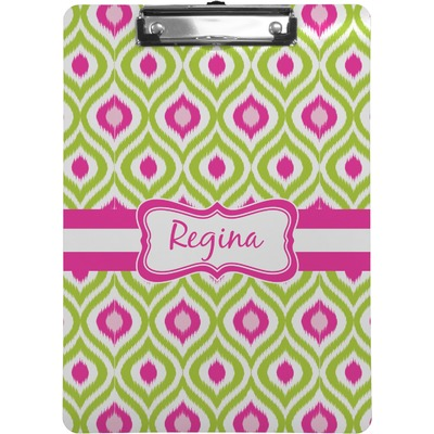 Ogee Ikat Clipboard (Letter Size) (Personalized)