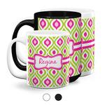 Ogee Ikat Coffee Mugs (Personalized)