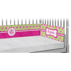 Ogee Ikat Crib Bumper Pads (Personalized)