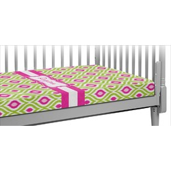 Ogee Ikat Crib Fitted Sheet (Personalized)