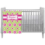 Ogee Ikat Crib Comforter / Quilt (Personalized)