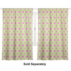 "Ogee Ikat Curtains - 20""x54"" Panels - Lined (2 Panels Per Set) (Personalized)"