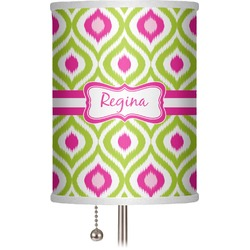 """Ogee Ikat 7"""" Drum Lamp Shade (Personalized)"""