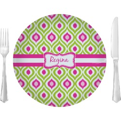 Ogee Ikat Glass Lunch / Dinner Plates 10