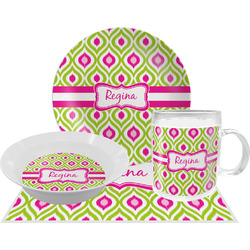 Ogee Ikat Dinner Set - 4 Pc (Personalized)