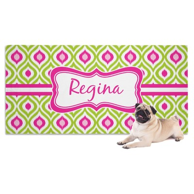 Ogee Ikat Dog Towel (Personalized)