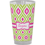 Ogee Ikat Drinking / Pint Glass (Personalized)