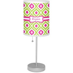 """Ogee Ikat 7"""" Drum Lamp with Shade Polyester (Personalized)"""