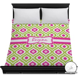 Ogee Ikat Duvet Cover (Personalized)