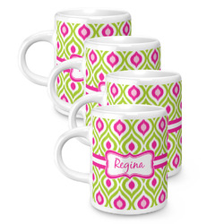 Ogee Ikat Espresso Mugs - Set of 4 (Personalized)
