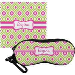 Ogee Ikat Eyeglass Case & Cloth (Personalized)