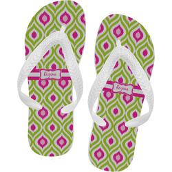 Ogee Ikat Flip Flops (Personalized)