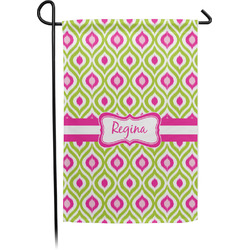 Ogee Ikat Garden Flag - Single or Double Sided (Personalized)
