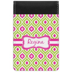 Ogee Ikat Genuine Leather Small Memo Pad (Personalized)