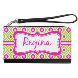 Ogee Ikat Genuine Leather Smartphone Wrist Wallet (Personalized)