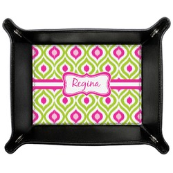 Ogee Ikat Genuine Leather Valet Tray (Personalized)