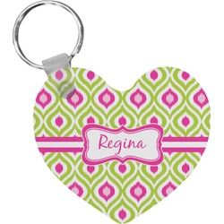 Ogee Ikat Heart Keychain (Personalized)