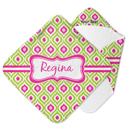 Ogee Ikat Hooded Baby Towel (Personalized)