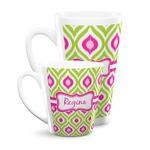 Ogee Ikat Latte Mug (Personalized)