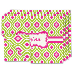 Ogee Ikat Linen Placemat w/ Name or Text