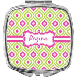 Ogee Ikat Compact Makeup Mirror (Personalized)