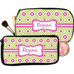 Ogee Ikat Makeup / Cosmetic Bag (Personalized)